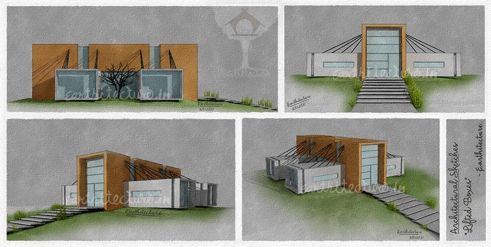 Architects-in-ahmedabad-Earthitecture-architectural-sketch-1